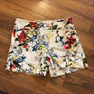 White House Black Market floral shorts